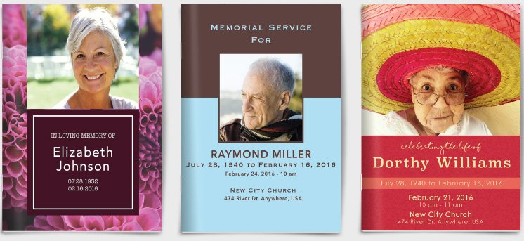 Funeral Program Examples  Funeral Programs Examples