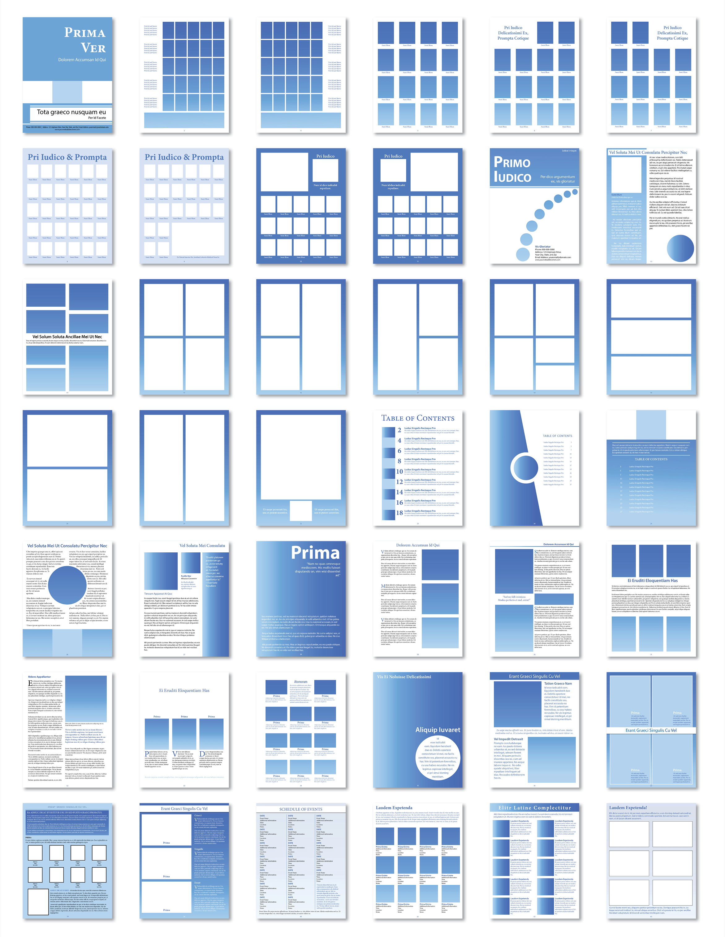 predesigned templates