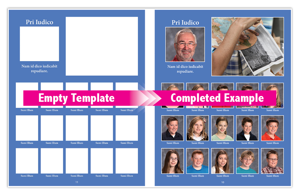free online yearbook templates - booklet printing