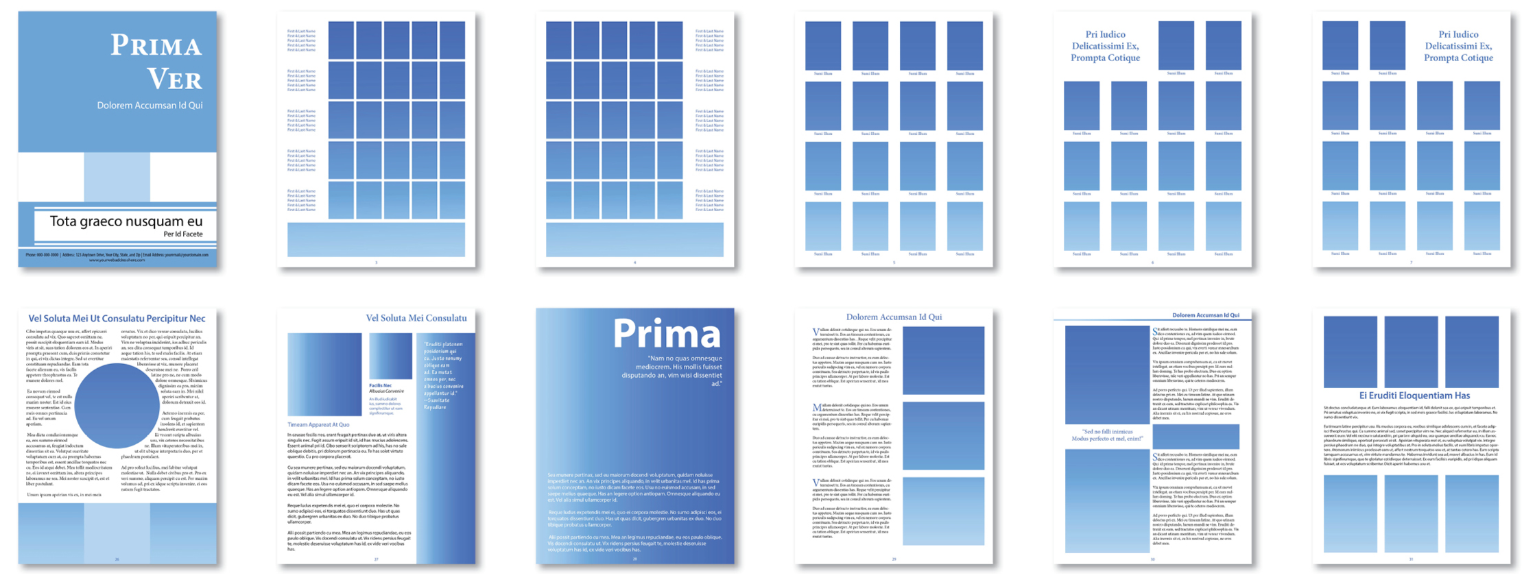 Booklet Printing Templates with Multiple Layout Designs