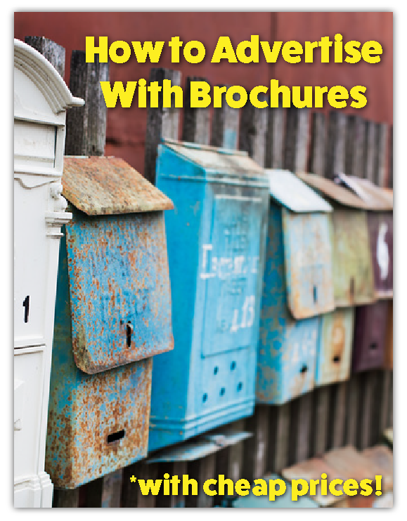 how to advertise with brochures flyers with cheap prices