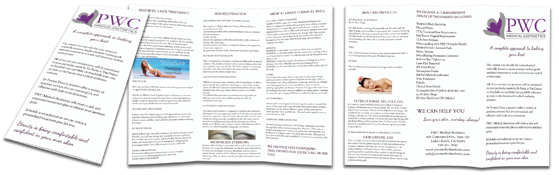 example tri fold brochure design