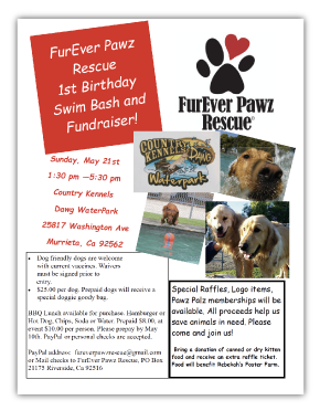 FurEver Pawz Rescue Event Flyer Example