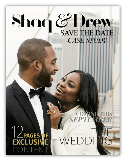 Save the Date Wedding Magazine Printing Example Case Study