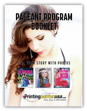 Pageant Program Photo Book White Paper Guide Download