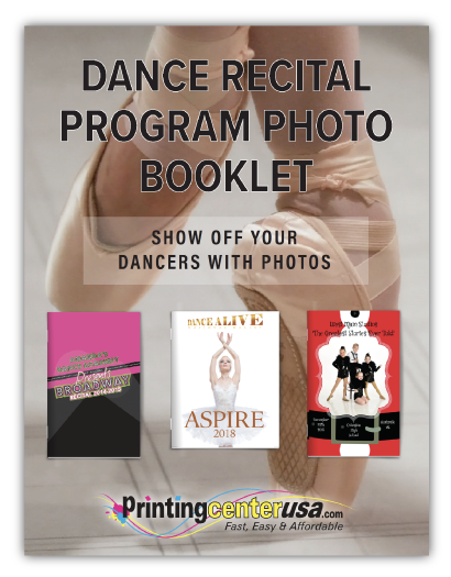 Dance Recital Program White Paper Guide Download