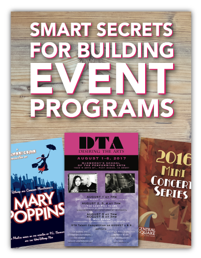 Event Programs Smart Secrets to Know