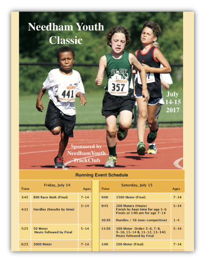 Track and Field Program Printing
